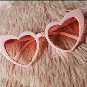 Accessories - Pink Heart Sunglasses